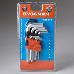 Набор шестигранных ключей КУЗЬМИЧ НИ2-044/9 9 предметов (60)