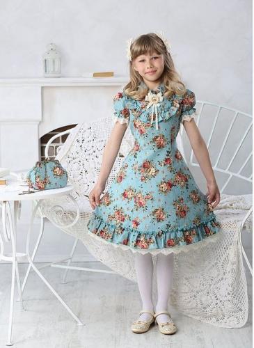 Платье для девочки МТ 16-3 бирюза