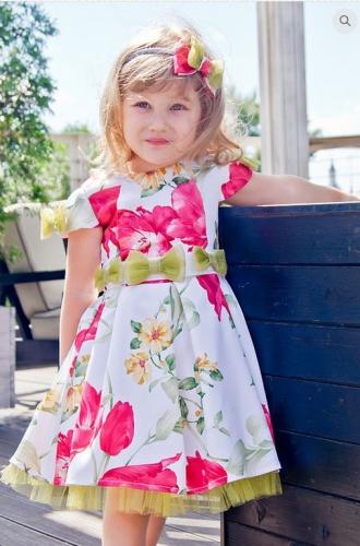 платье для девочки Бантики тюльпаны