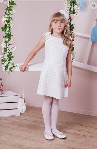платье для девочки М-389 Афина жаккард горошек