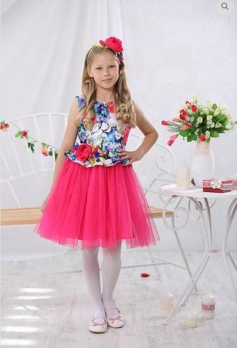 платье для девочки Фея А17-2 полянка-1
