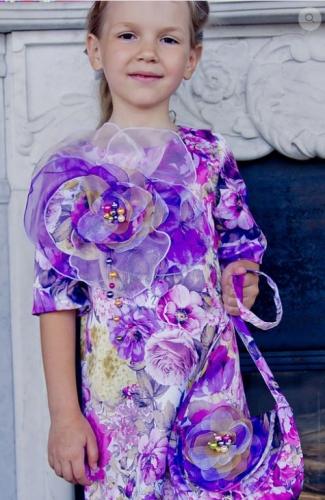 Платье Цветок М-325