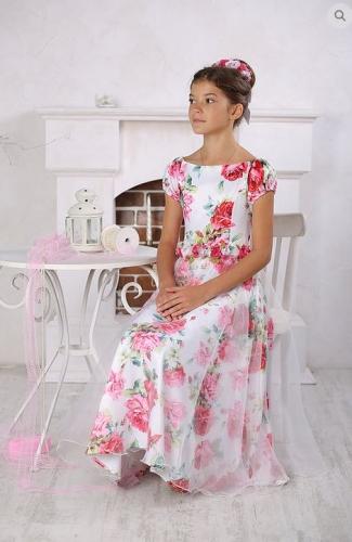 платье для девочки Миледи розы