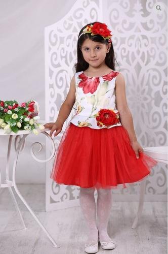 платье для девочки Фея А17-2 тюльпаны