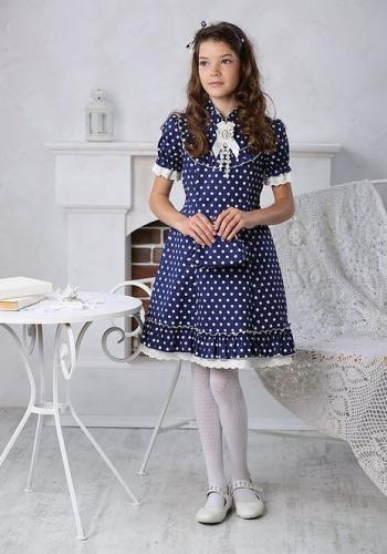 Платье для девочки МТ 16-3 горох