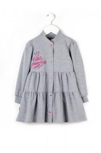 Платье 897А2 серый