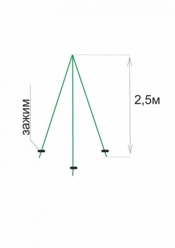 Каркас для укрытия туи (2,5 м)