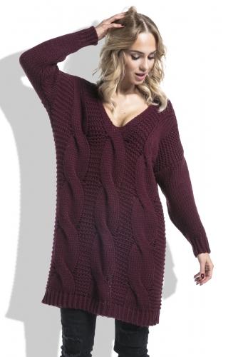 Fimfi I232 свитер бордовый 2250р