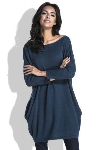 Fobya F444 свитер темно-синий 1520р