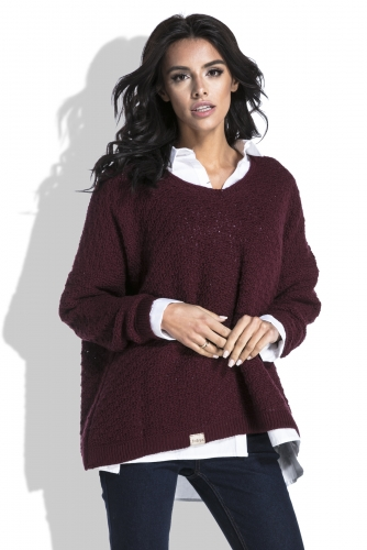 Fobya F449 свитер бордовый 1580р