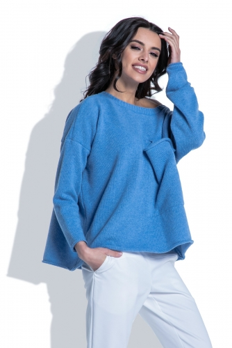 Fobya F403 свитер голубой 2490р