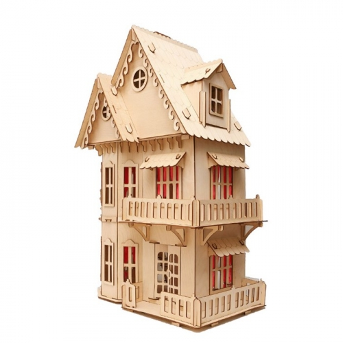 Кукольный домик, 2-этажный, без мебели