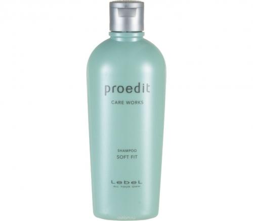 Lebel Proedit Soft Fit Shampoo - Увлажняющий шампунь для жестких и непослушных волос