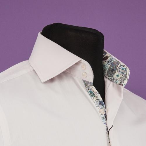Мужская рубашка 226-2-m12f-slbeg