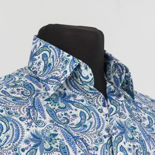 Мужская рубашка 225-2-m12n-psblu