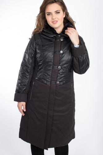 Пальто #24746Черный
