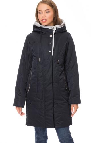 Утепленное пальто #67822Темно-синий