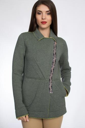 Жакет #30633Сине-зеленый