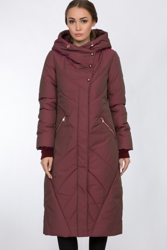 Пальто #54162Бордовый