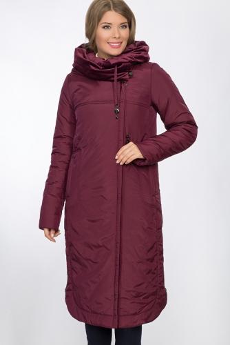 Пальто #53496Бордовый