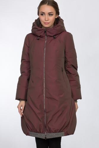 Пальто #54161Бордовый