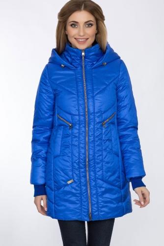 Пальто #55951Васильковый