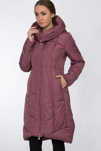 Пальто #54151Прелая вишня