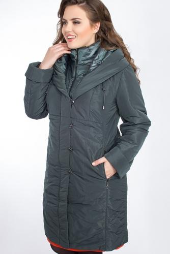 Пальто #24704Темно-зеленый