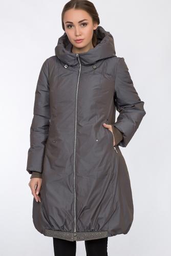 Пальто #54166Серо-сиреневый