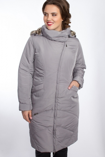 Пальто #25785Серый