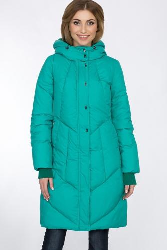 Пальто #55943Изумрудный