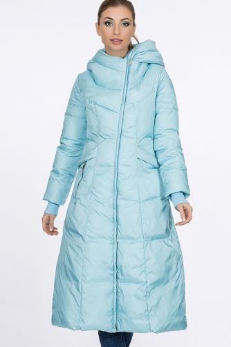 Пальто #57297Серо-голубой