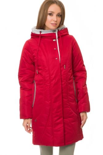 Утепленное пальто #67186Красный