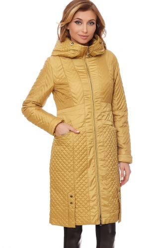 Пальто #60580Горчичный