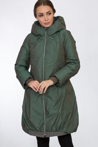 Пальто #54158Зеленый