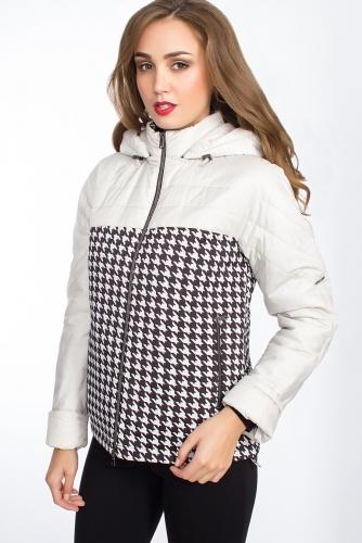 Куртка #24835Черно-бежевый