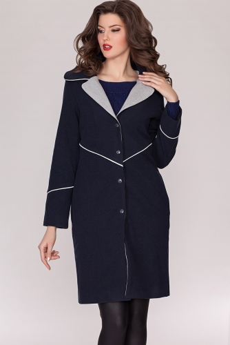 Пальто #21350Темно-синий