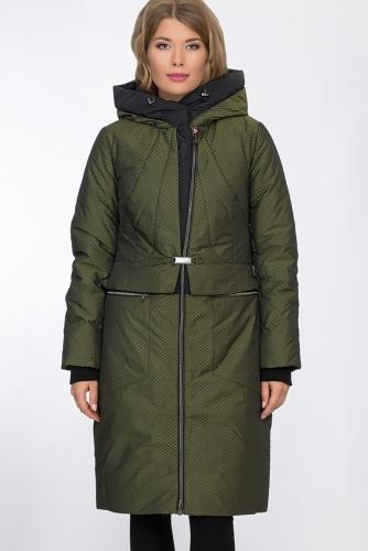 Пальто #53477Зеленый