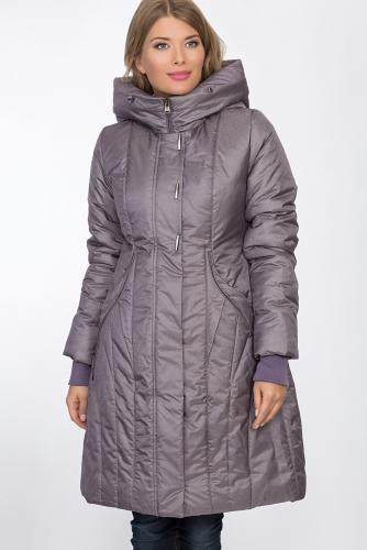 Пальто #53510Серо-фиолетовый