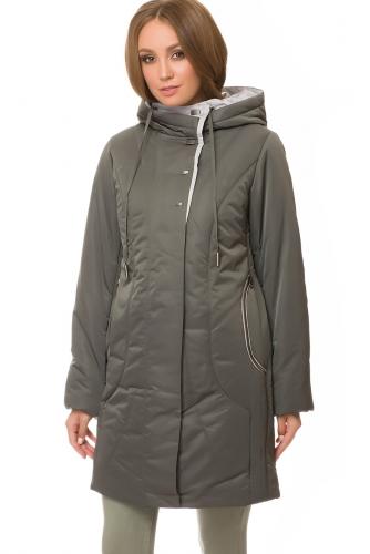 Утепленное пальто #67181Хаки