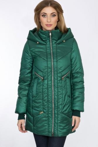 Пальто #55948Зеленый