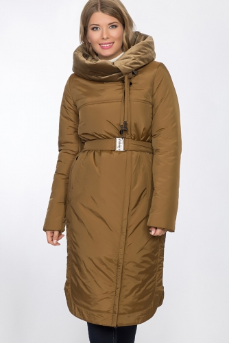 Пальто #53506Горчичный