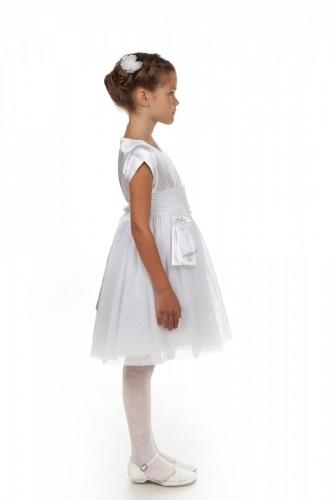 Нарядное белое платье для девочки, модель 0113