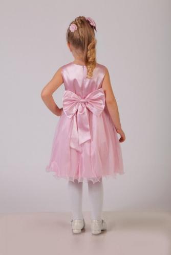 Нарядное розовое платье для девочки, модель 0101