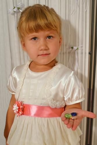 Молочное болеро для девочки, модель 0707