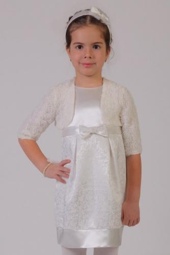 Молочное болеро для девочки, модель 0705