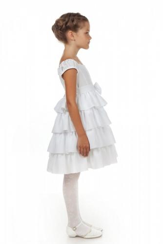 Нарядное белое платье для девочки, модель 0114