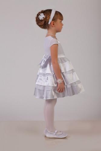 Нарядное белое платье для девочки, модель 0110