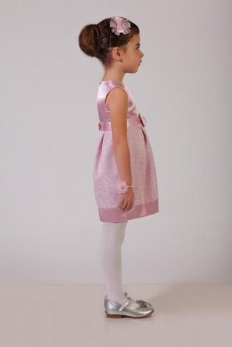 Нарядное розовое платье для девочки, модель 0102