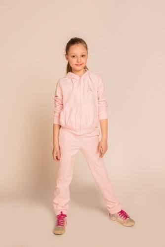 Светло-розовая спортивная куртка, модель 1302